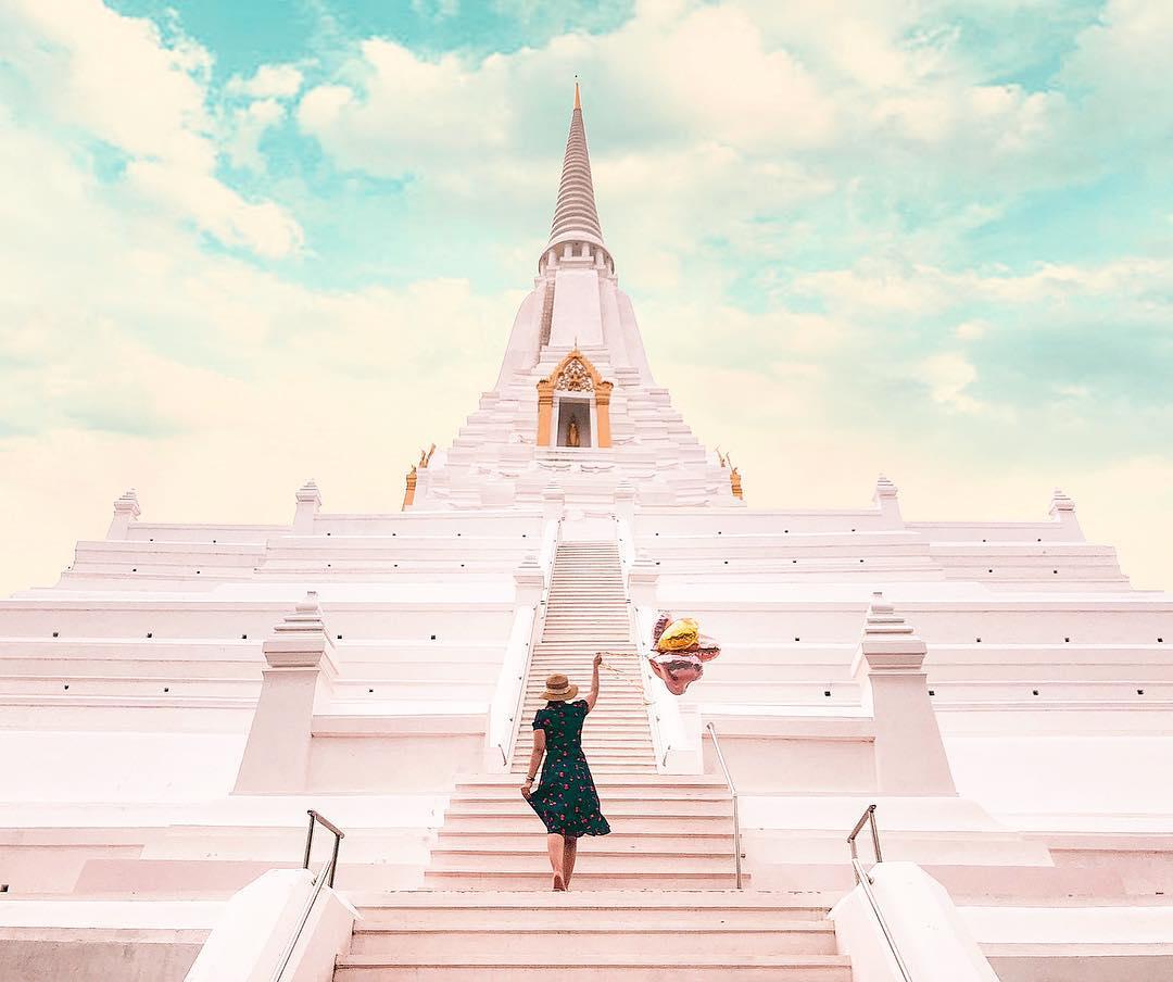 thăm di tích chùa chiền ở ayutthaya