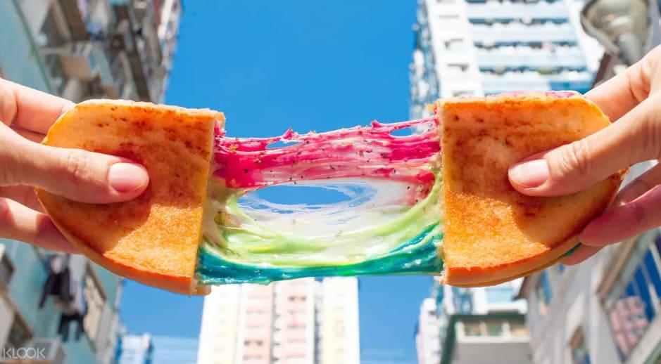 kala toast nhiều màu