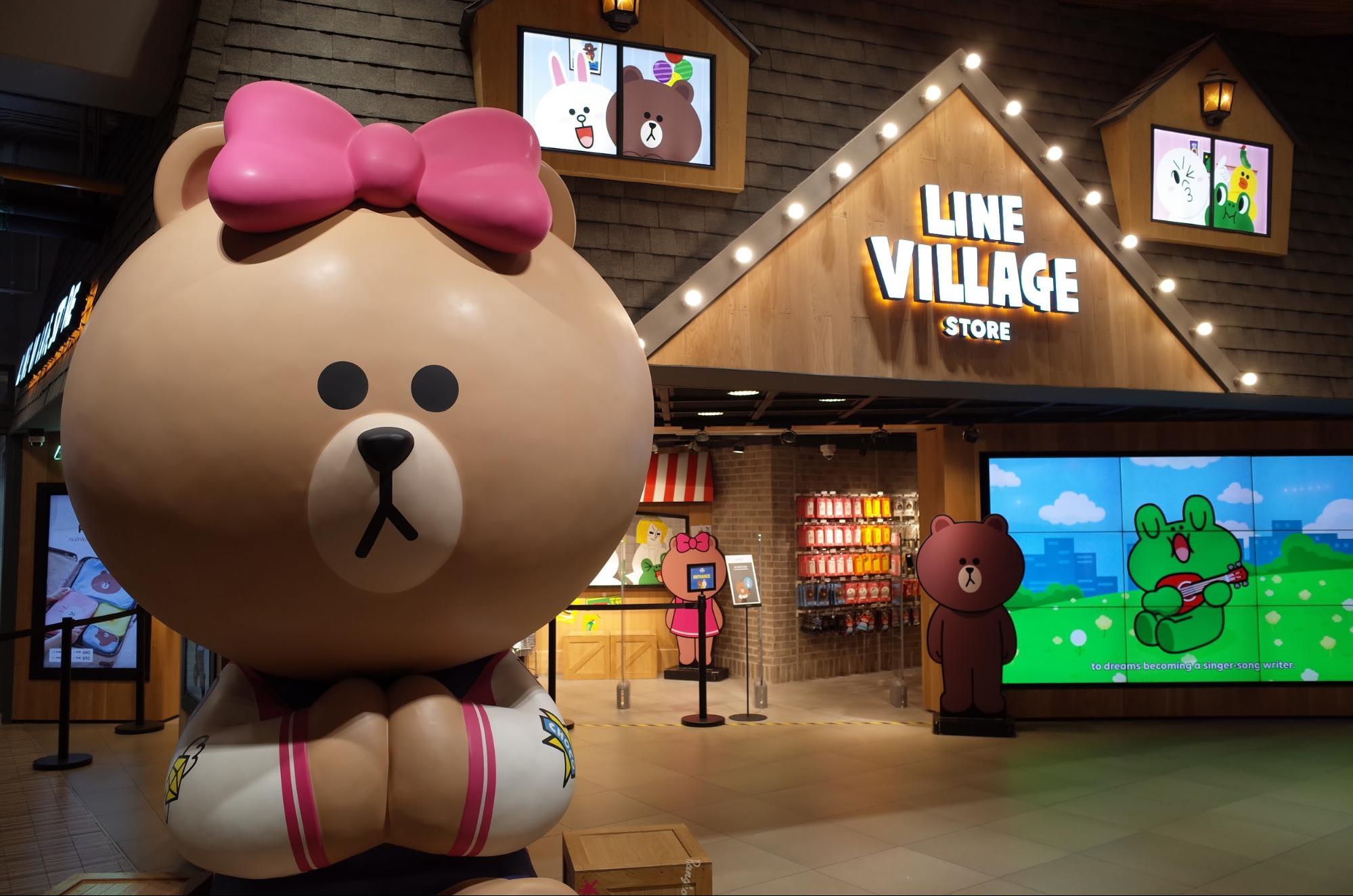 quầy quà lưu niệm line village ở bangkok
