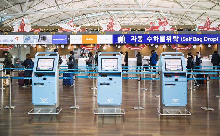 dịch vụ tự check-in tại sân bay incheon