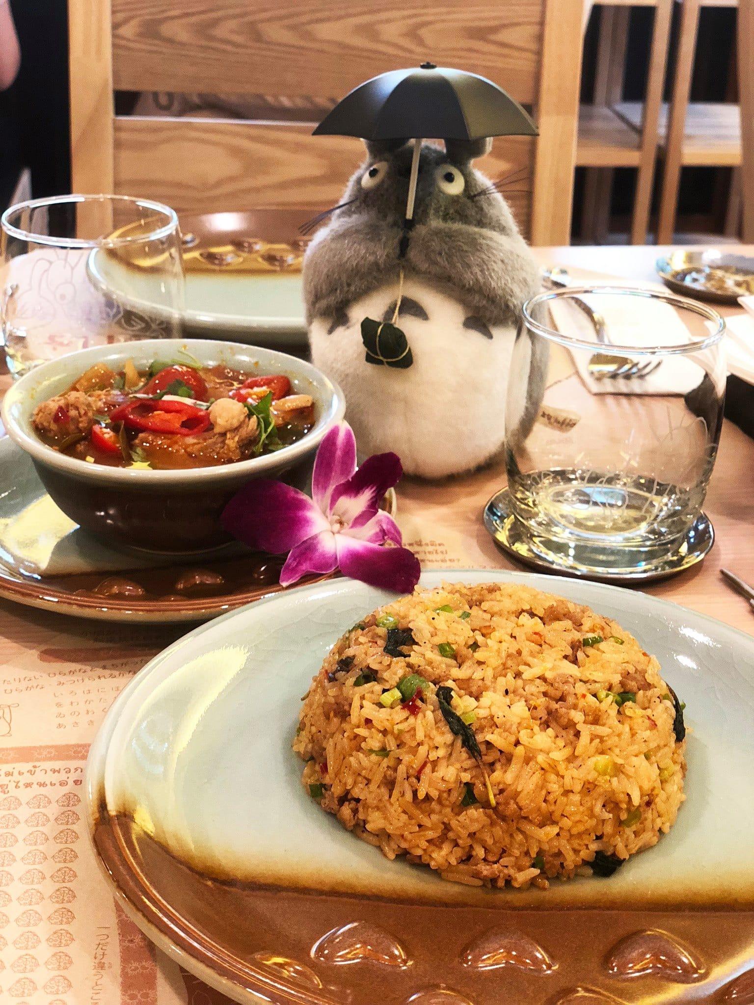món ăn của nhà hàng totoro tại bangkok