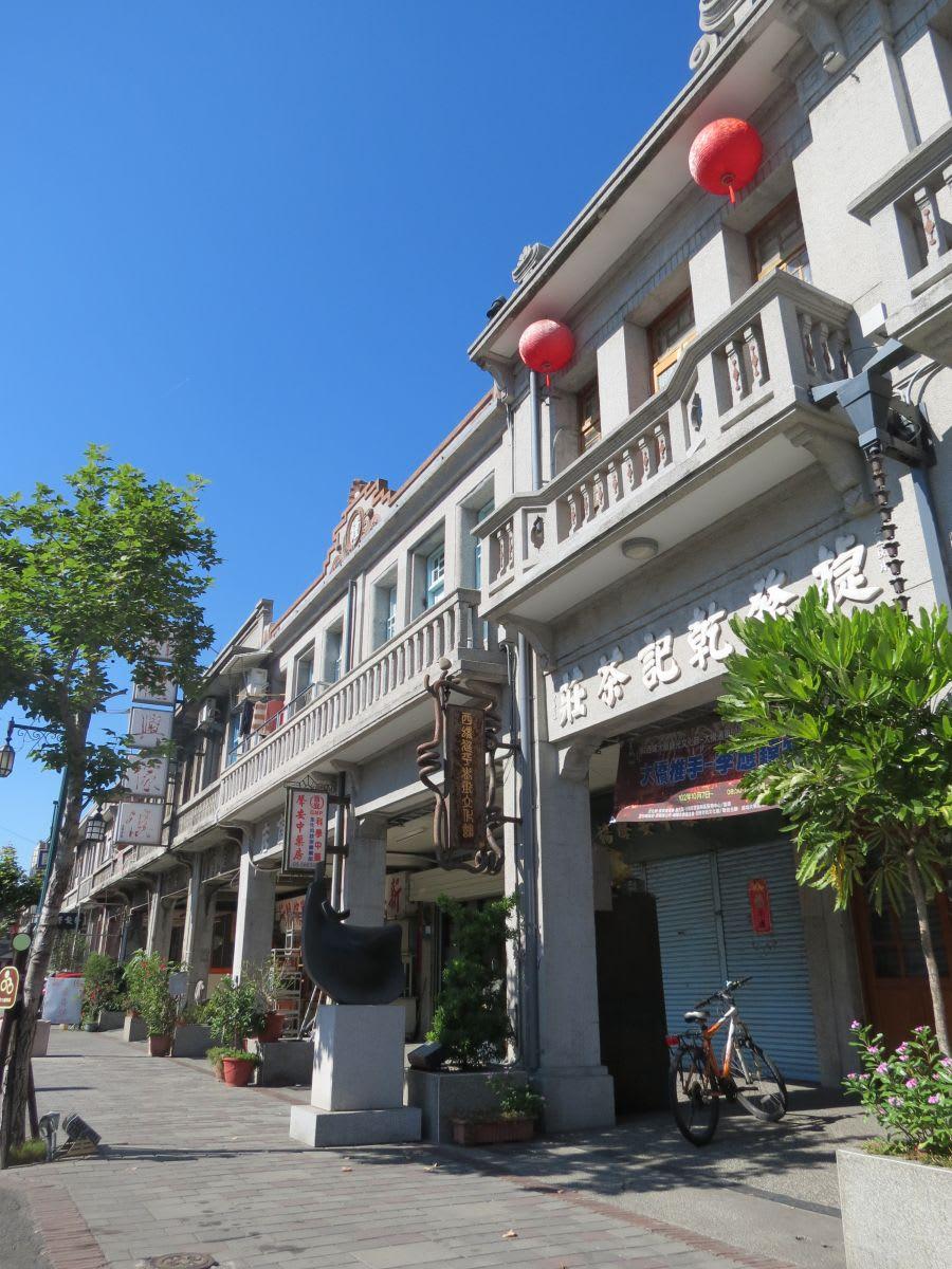 bên ngoài của một tiệm trà cổ ở yunlin