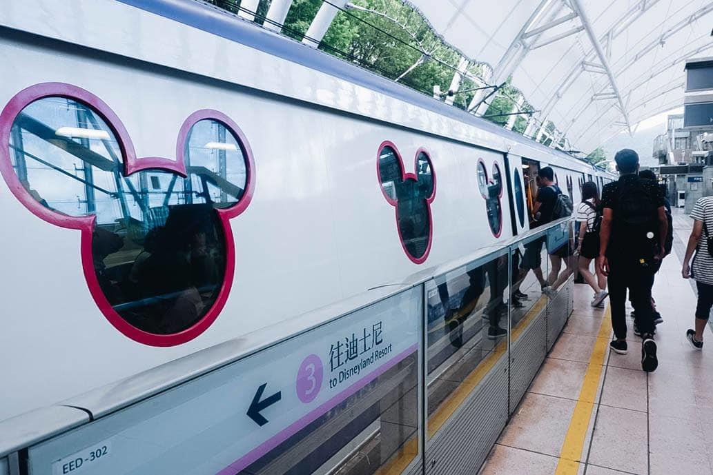 tàu điện của hong kong disneyland