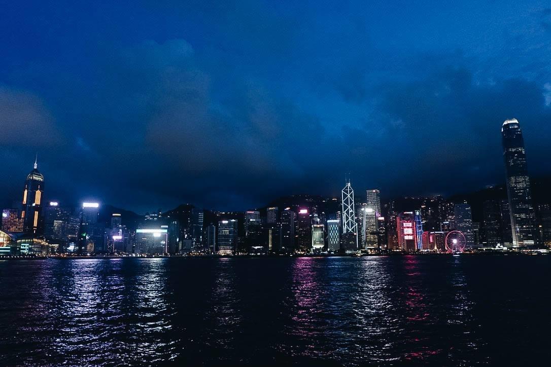 cảng victoria về đêm