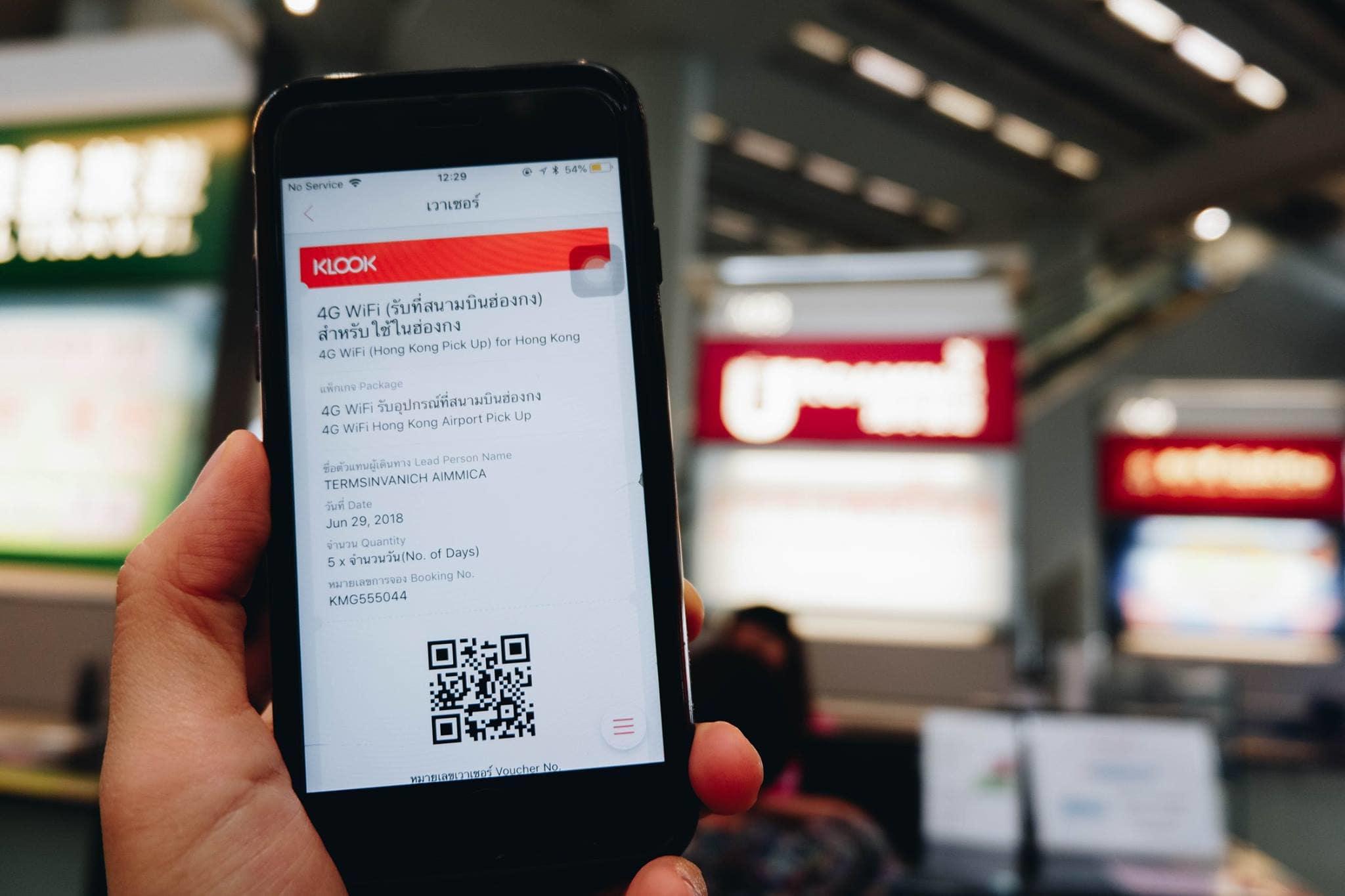 voucher thiết bị wifi 4G hong kong của klook