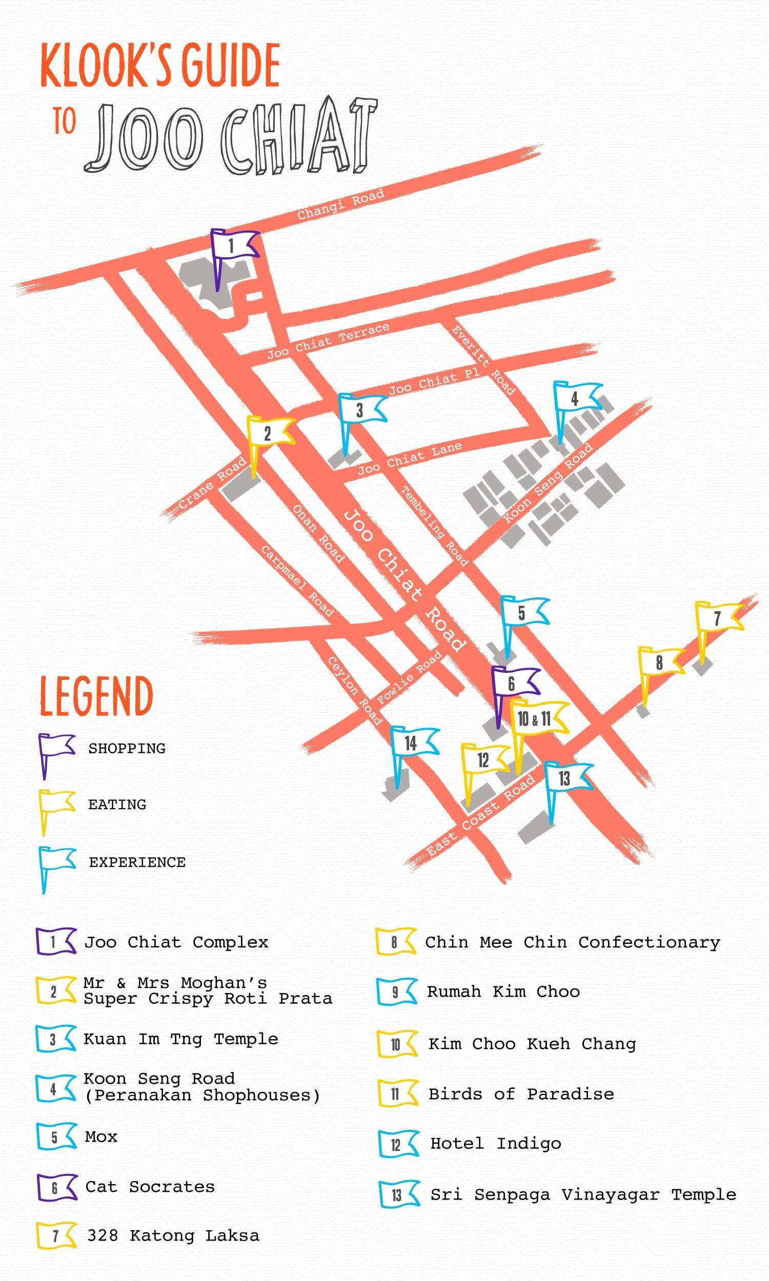 bản đồ phố joo chiat của klook