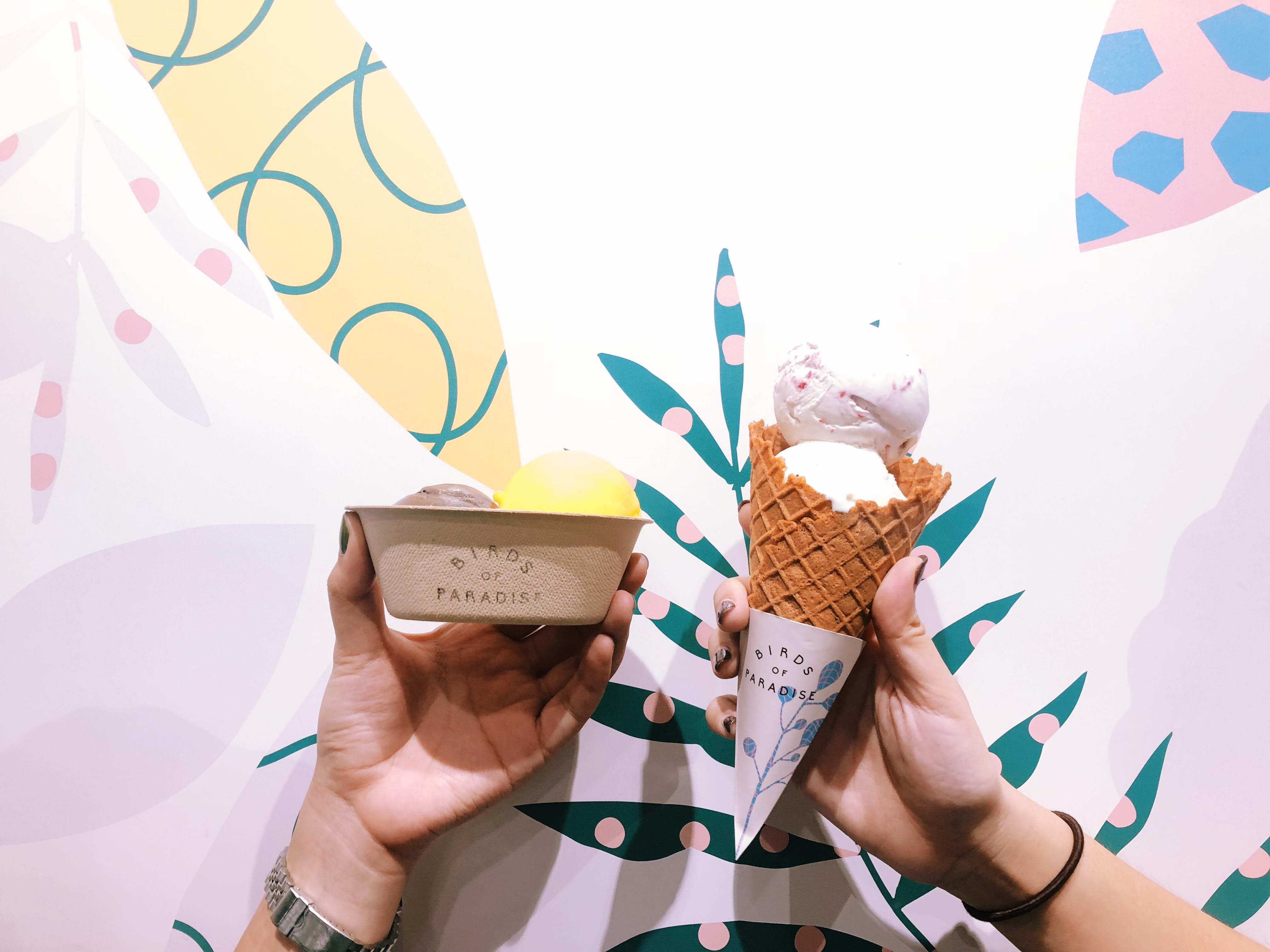 kem gelato tại birds of paradise