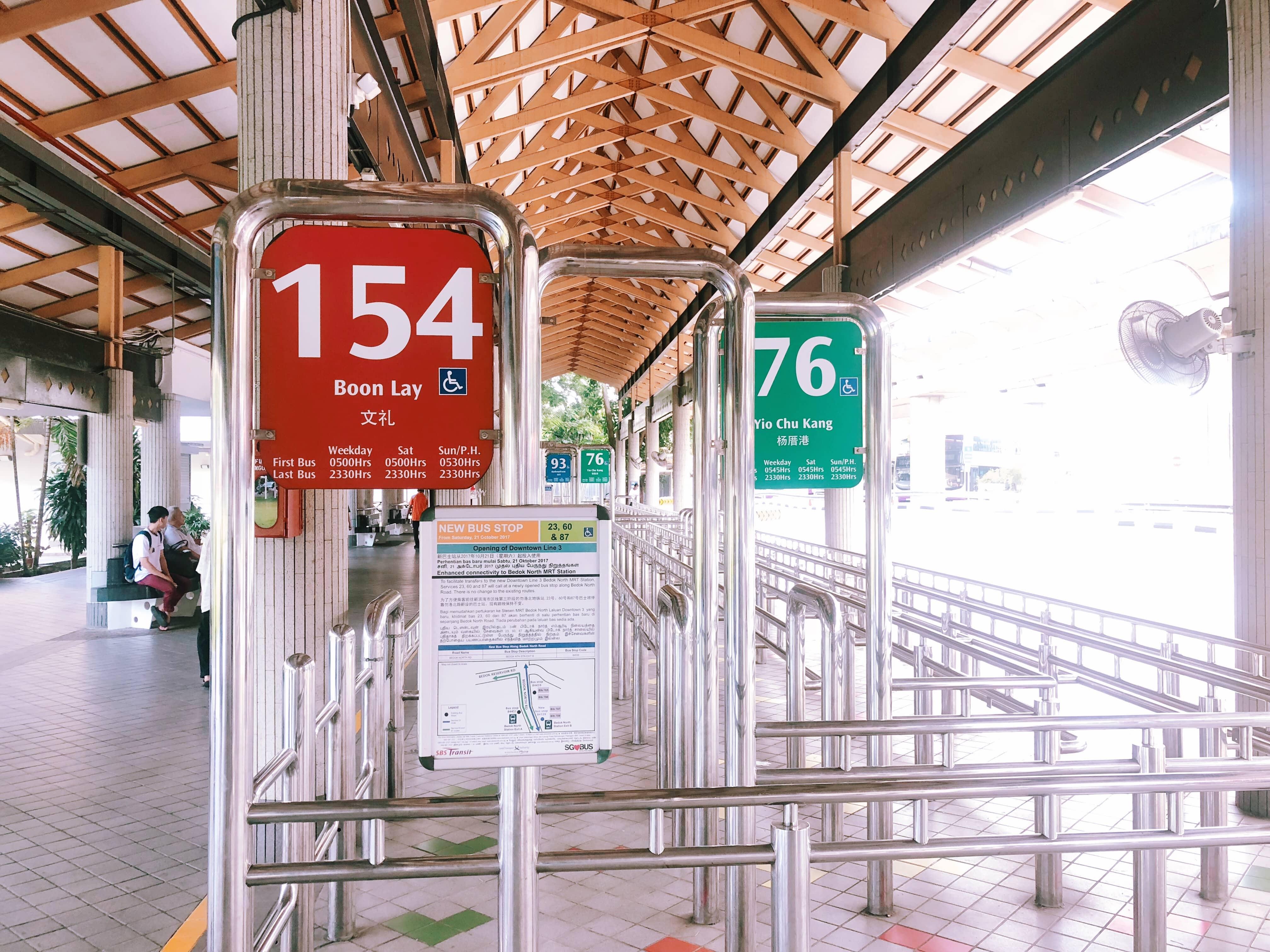 trạm chờ xe bus 154 và 76