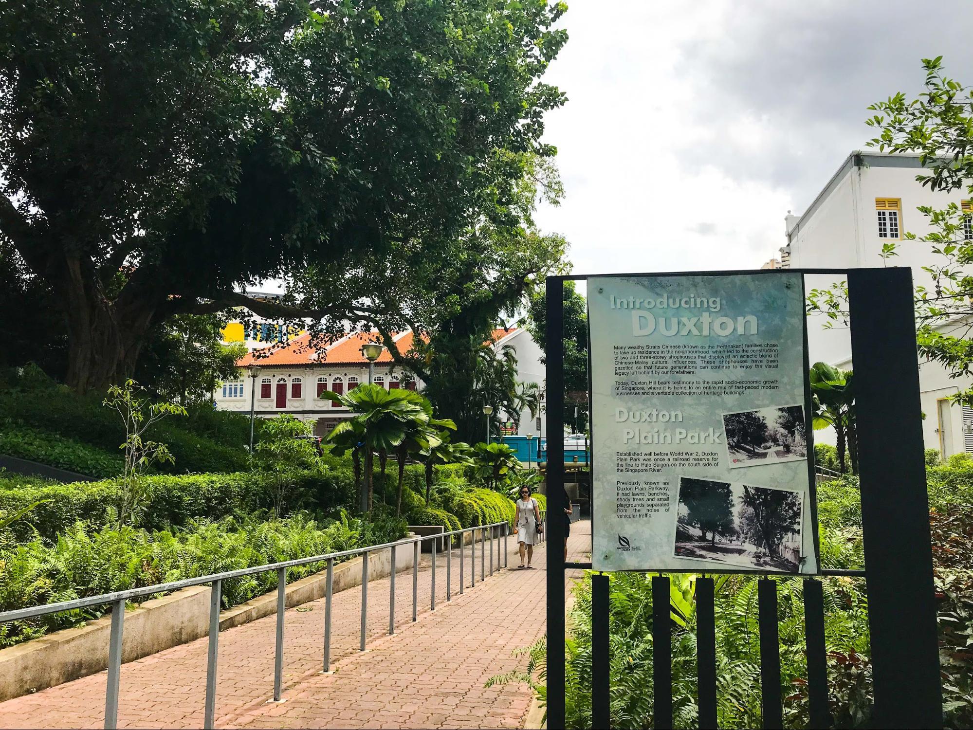 bảng giới thiệu công viên duxton plain