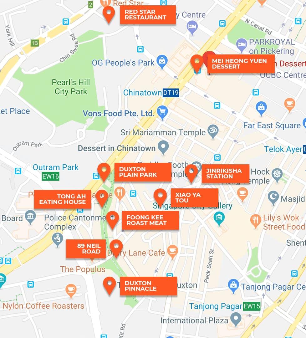 bản đồ klook khám phá singapore