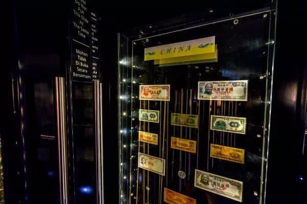 bộ sưu tập tiền giấy ở bảo tàng ngân hàng