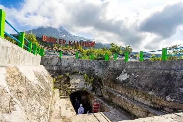 hầm trú ẩn núi lửa ở indonesia
