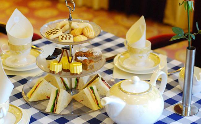 trà chiều tại tháp macau