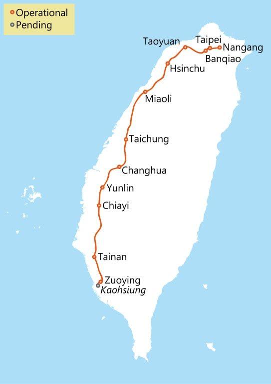 bản đồ THSR