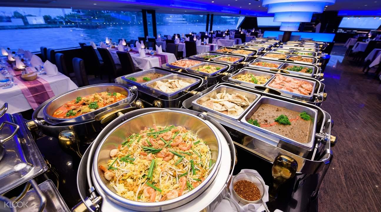 ăn buffet trên du thuyền chao phraya princess