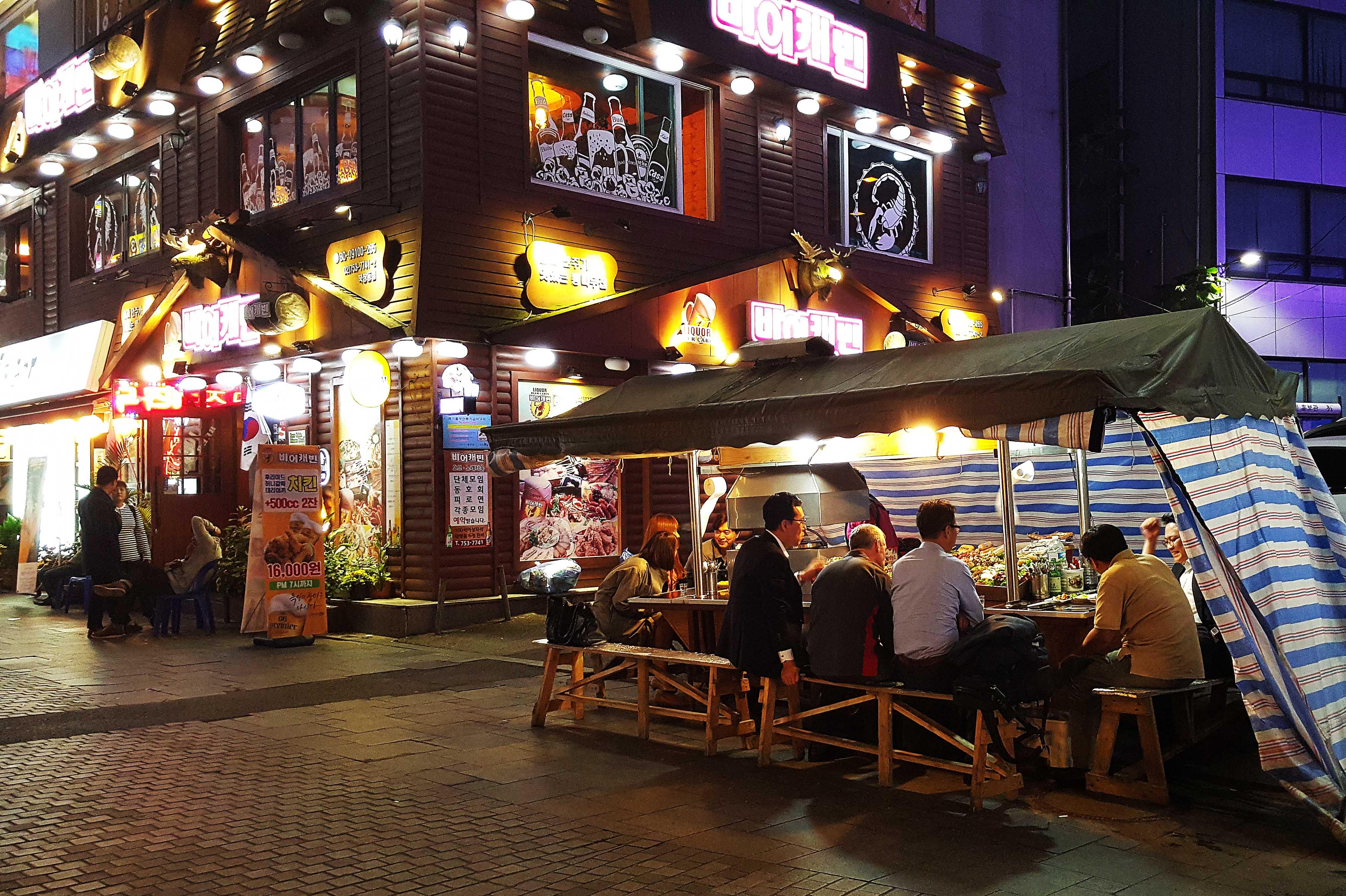 quán ăn đường phố tại dongdaemun