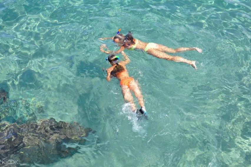 bơi lội tại hòn mun, hòn một và hòn tằm