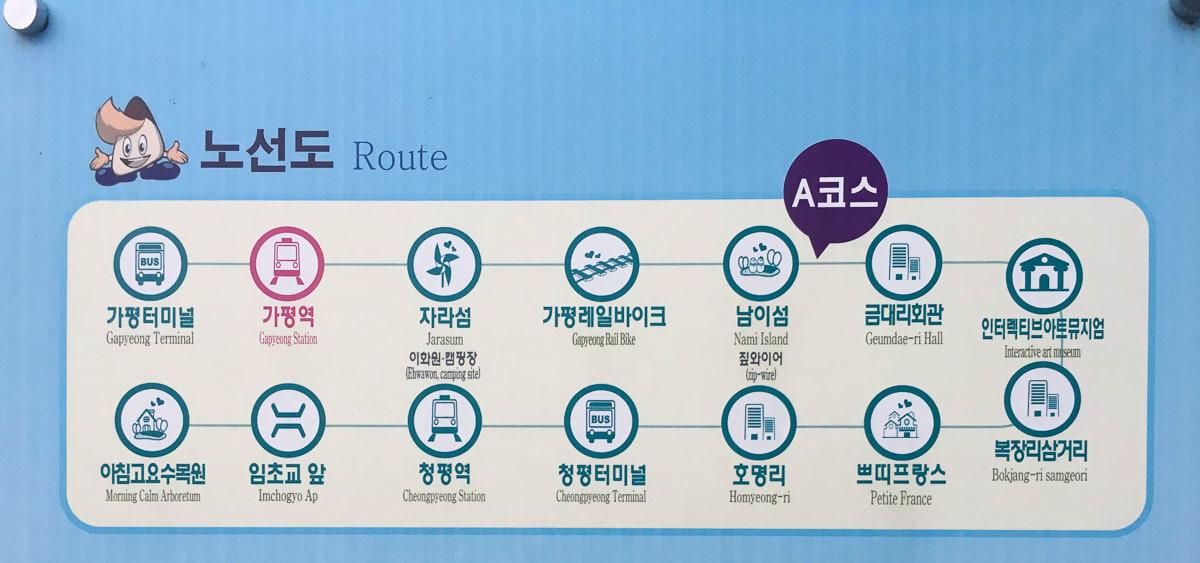 các tuyến xe bus đến gapyeong
