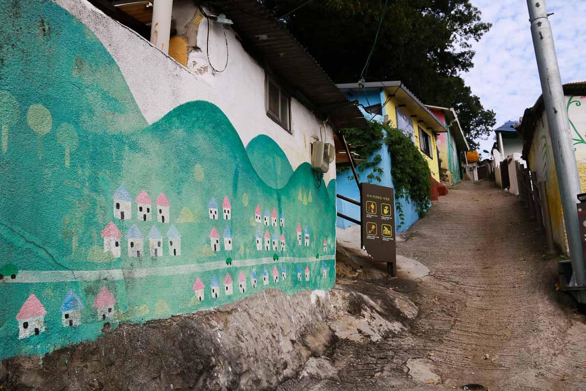 bức tranh vẽ tường tại làng jaman