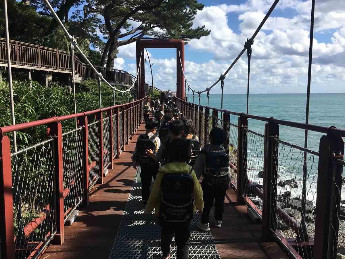 cầu đi bộ trên cao tại bãi biển haeundae