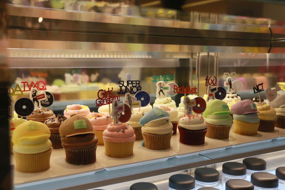Bánh cupcake tại sm town cafe