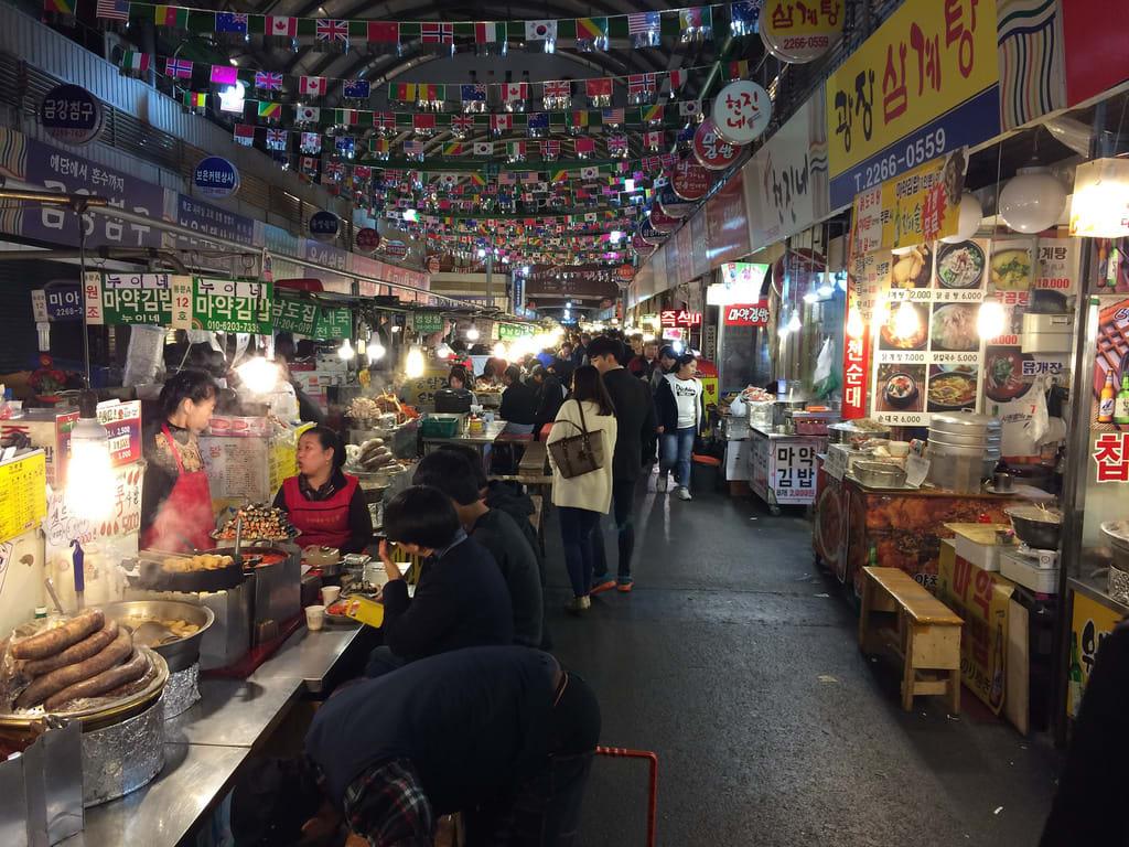 chợ gwangjang hàn quốc