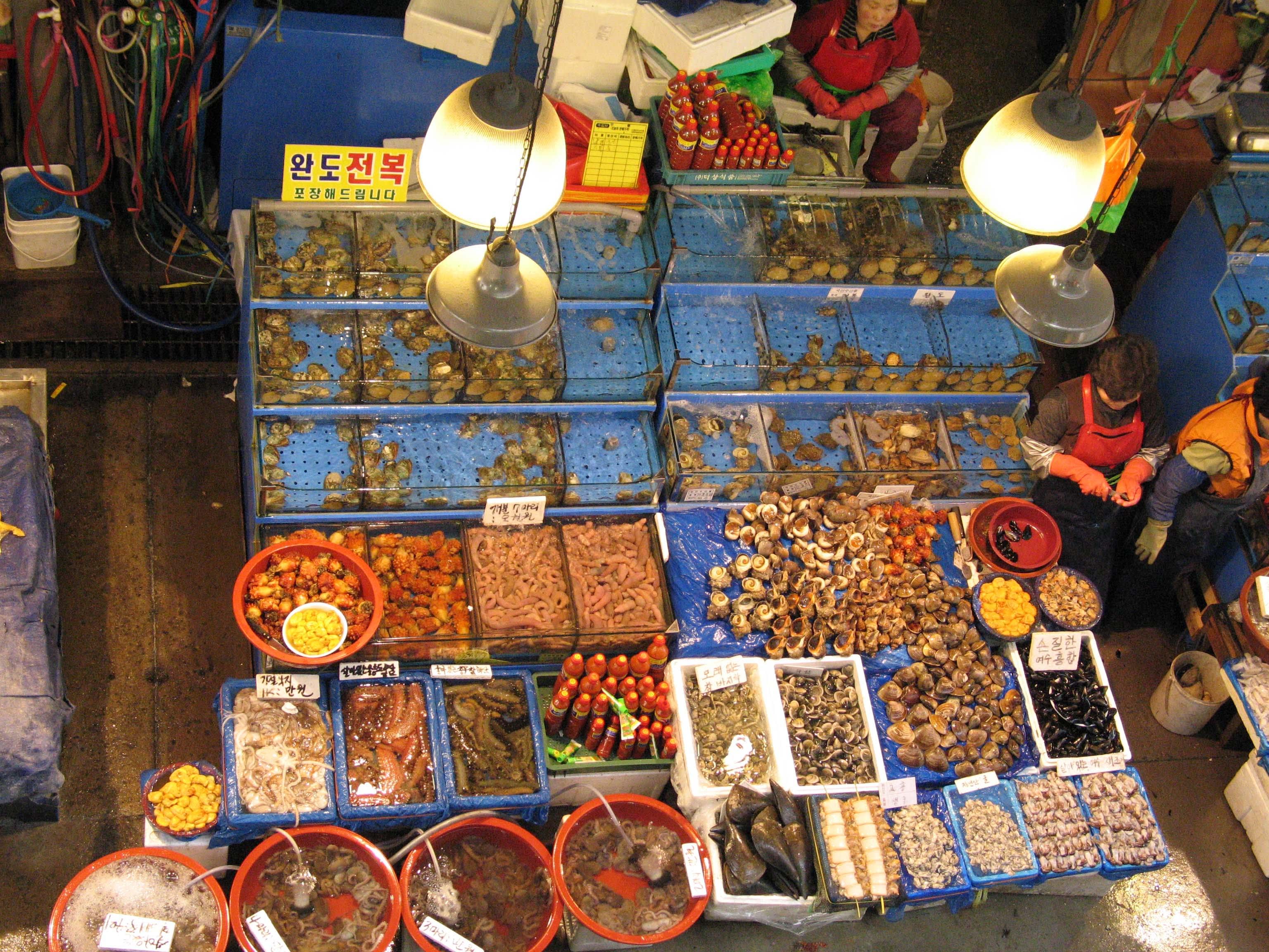 chợ hải sản noryangjin