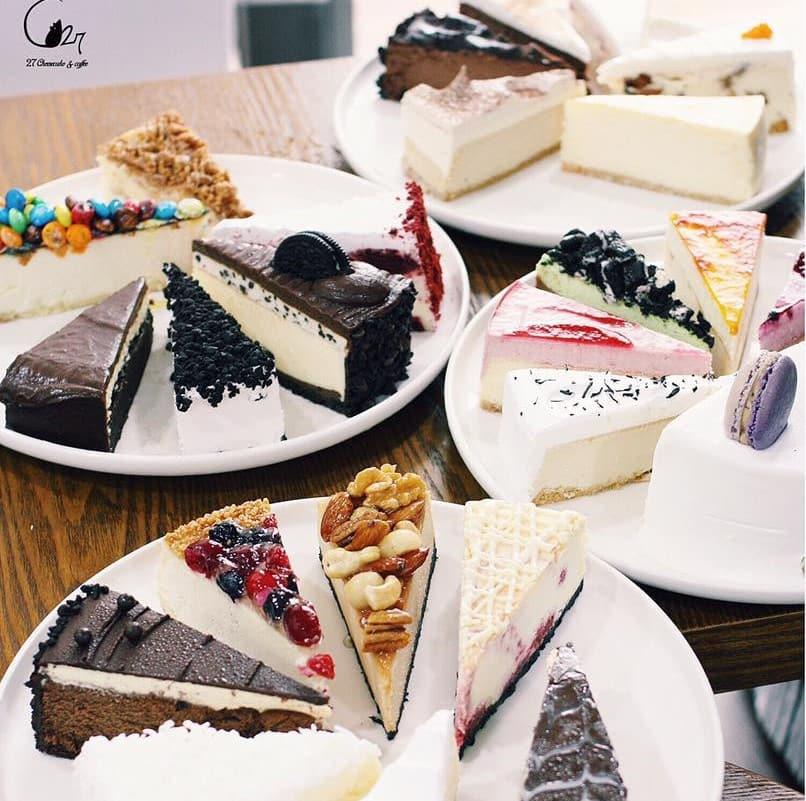 bánh ngọt của tiệm c27 cheesecake coffee