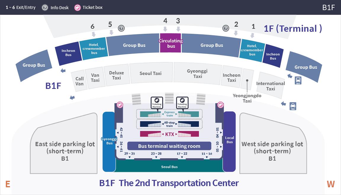bản đồ terminal 2 của sân bay quốc tế incheon