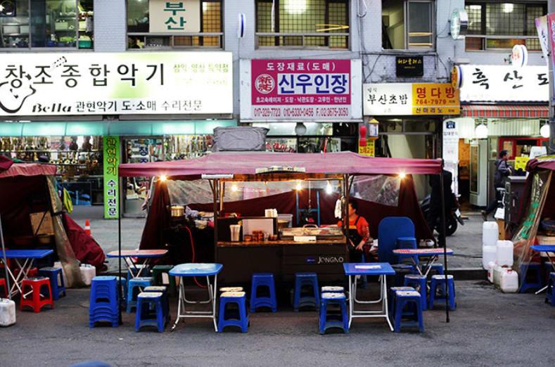 quán ăn bình dân tại ikseon-dong