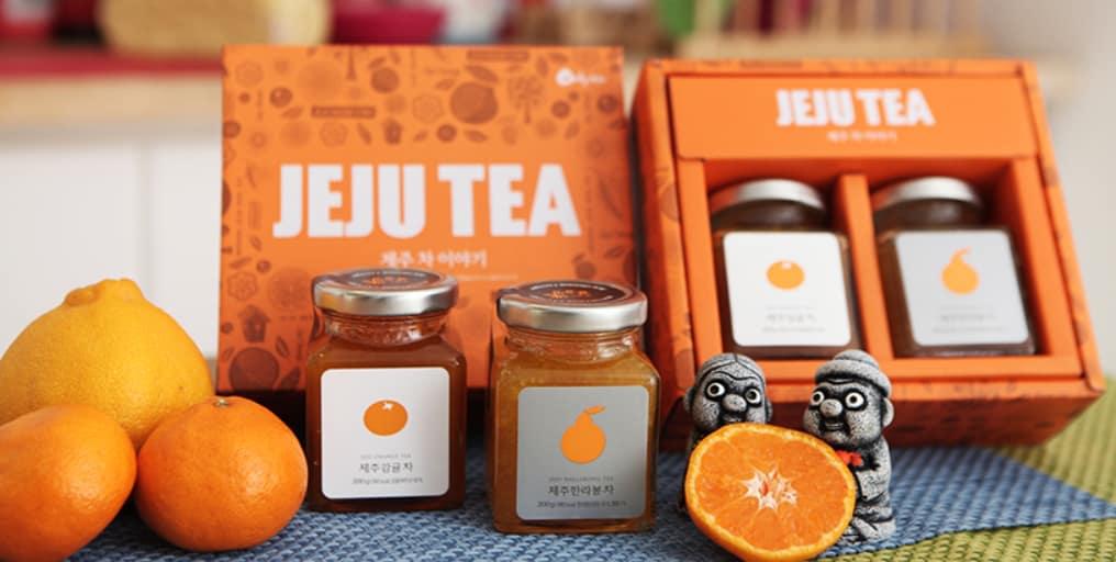 trà quýt hallabong ở đảo jeju