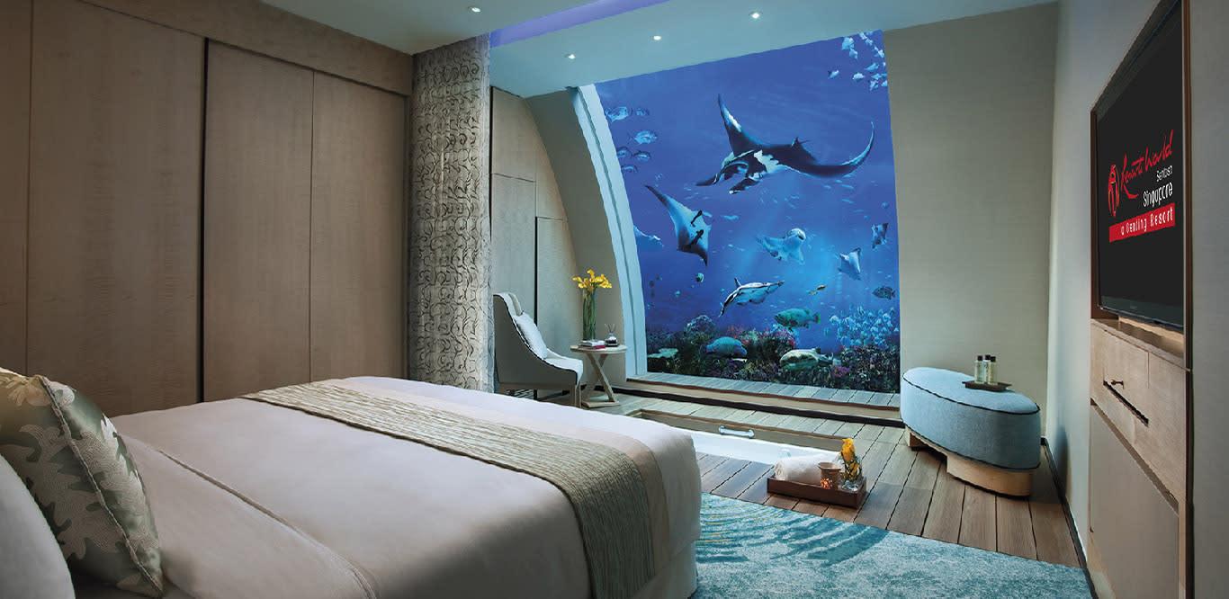 ngắm đại dương tại nhà nghỉ dưới nước ocean suite