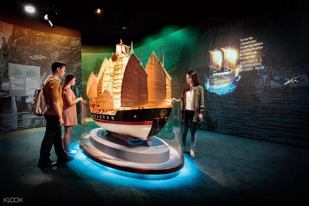 triển lãm tàu thuyền tại bào tàng trải nghiệm hàng hải
