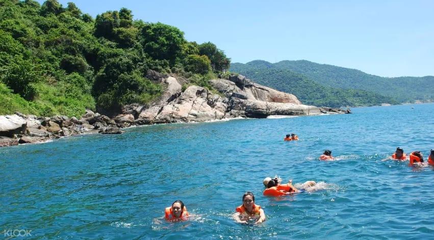 bơi lội tại cù lao chàm