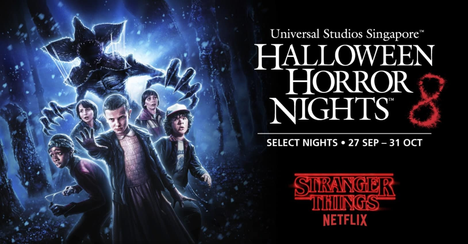 stranger things tại halloween horror nights 8