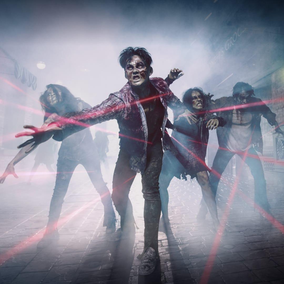 trải nghiệm cuộc chiến zombie laser tag