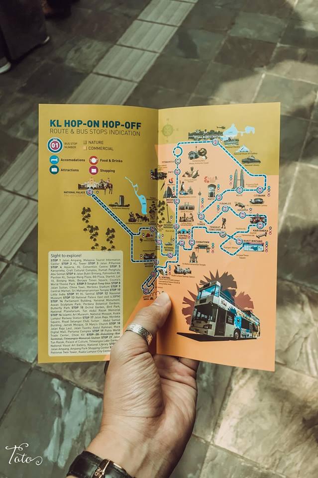bản đồ xe buýt hop on hop off kuala lumpur