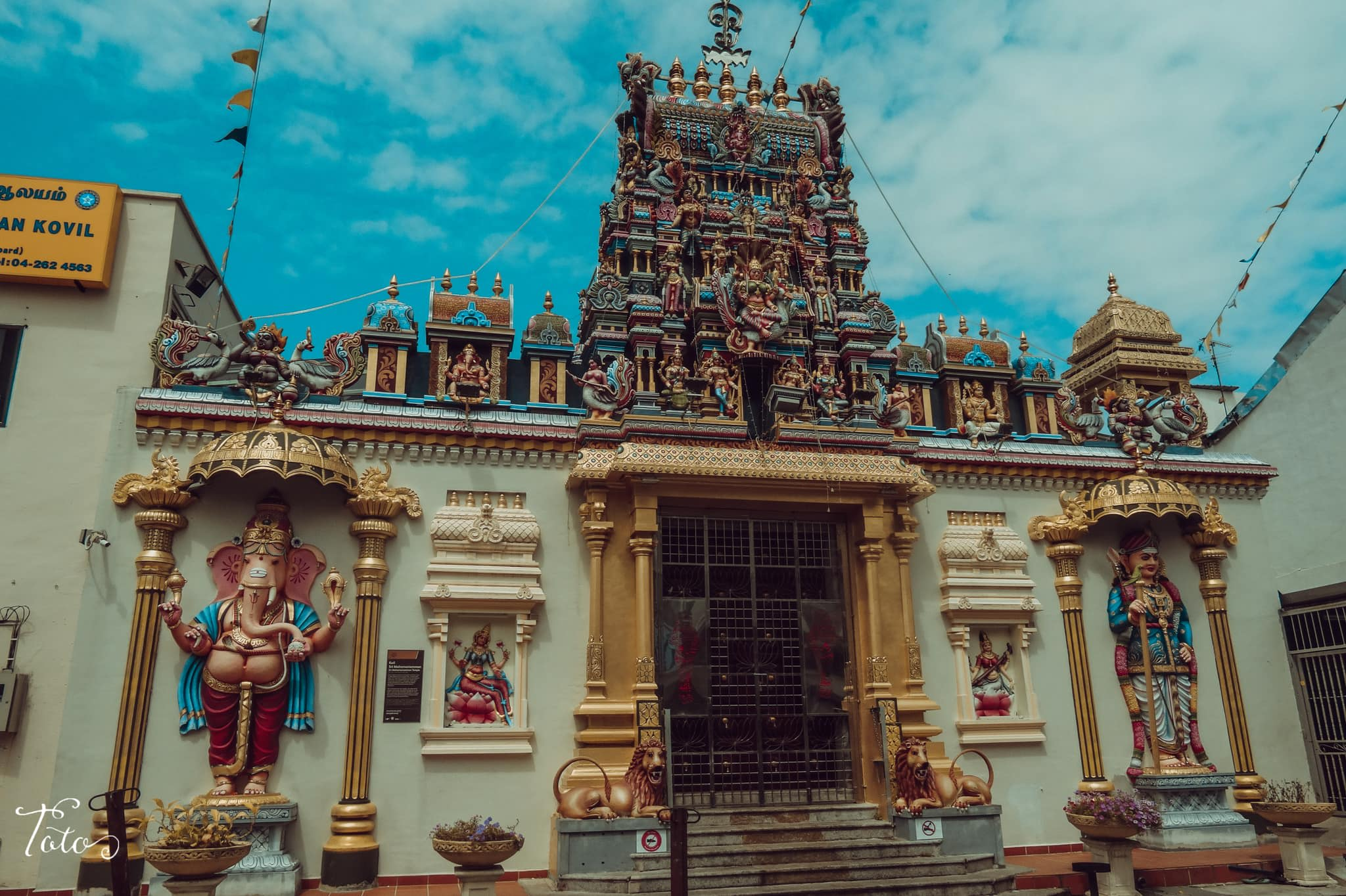 cổng đền sri mahamariamman
