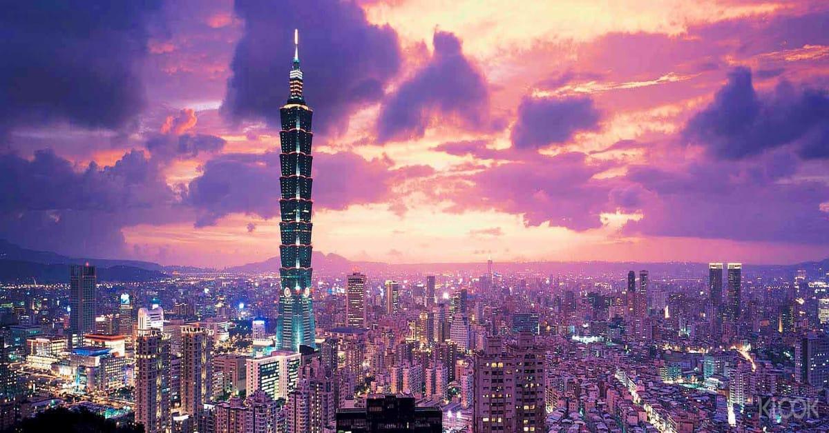 taipei 101 nhìn từ trên cao