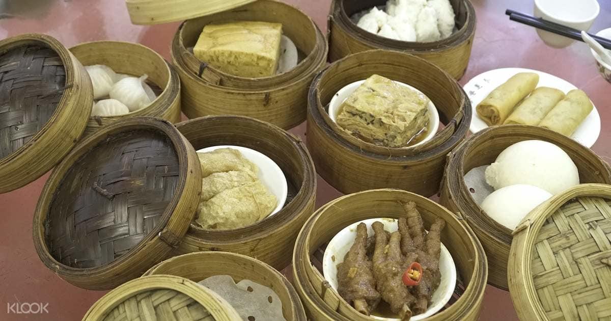 các món dimsum tại Lin Heung Kui