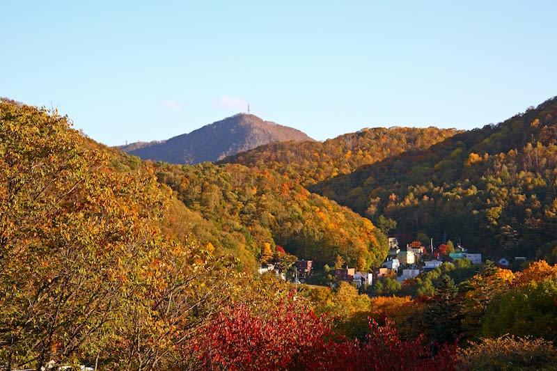 núi moiwa nhìn từ trên cao