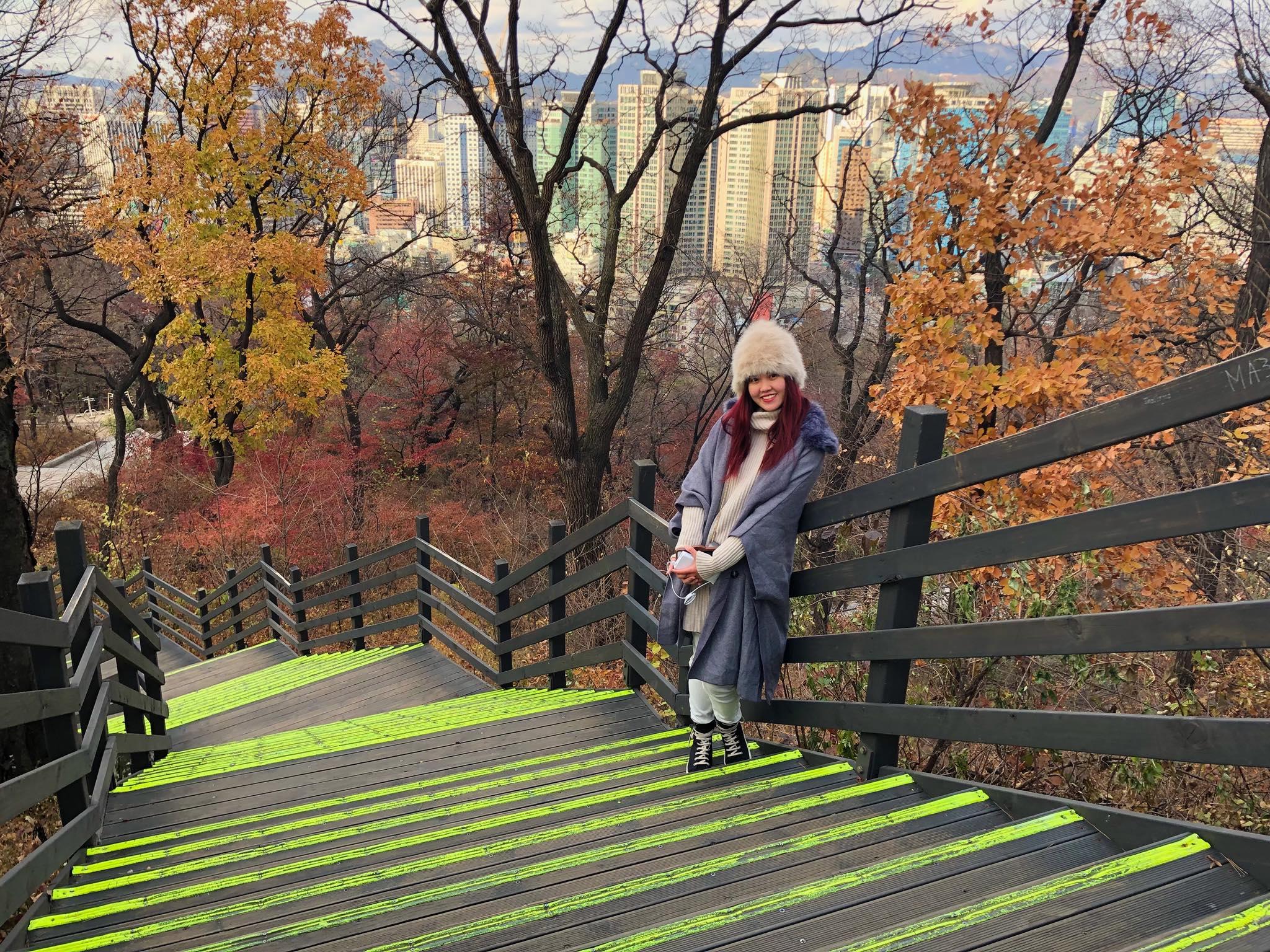 một cầu thang cạnh seoul