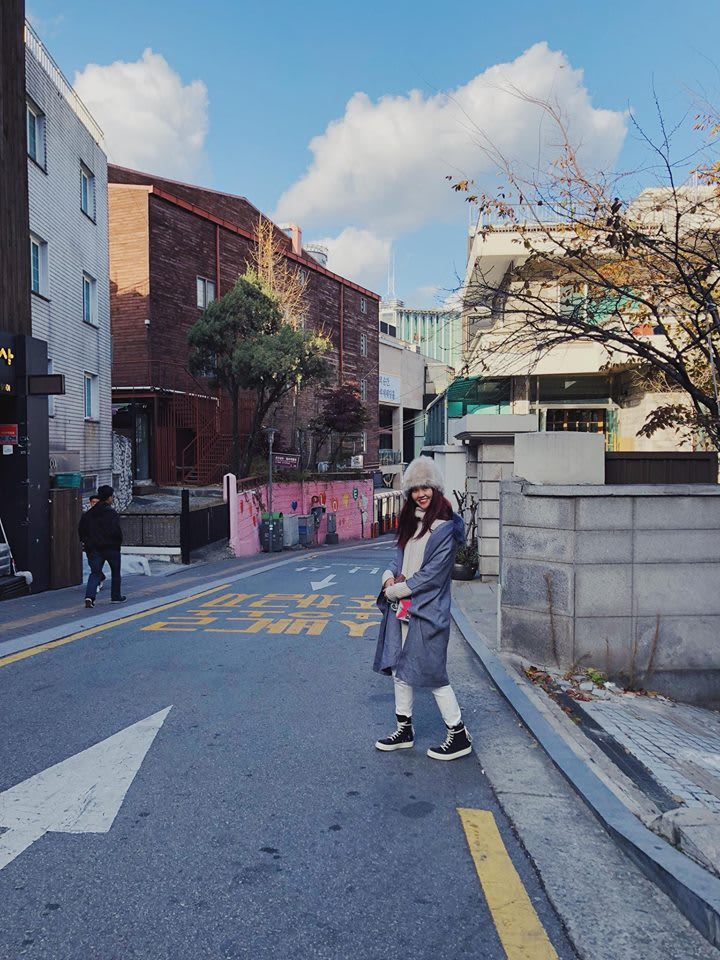 một con đường của seoul