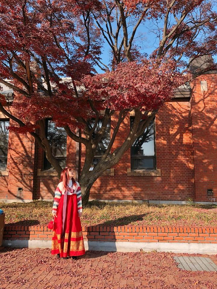 chụp hình với hanbok