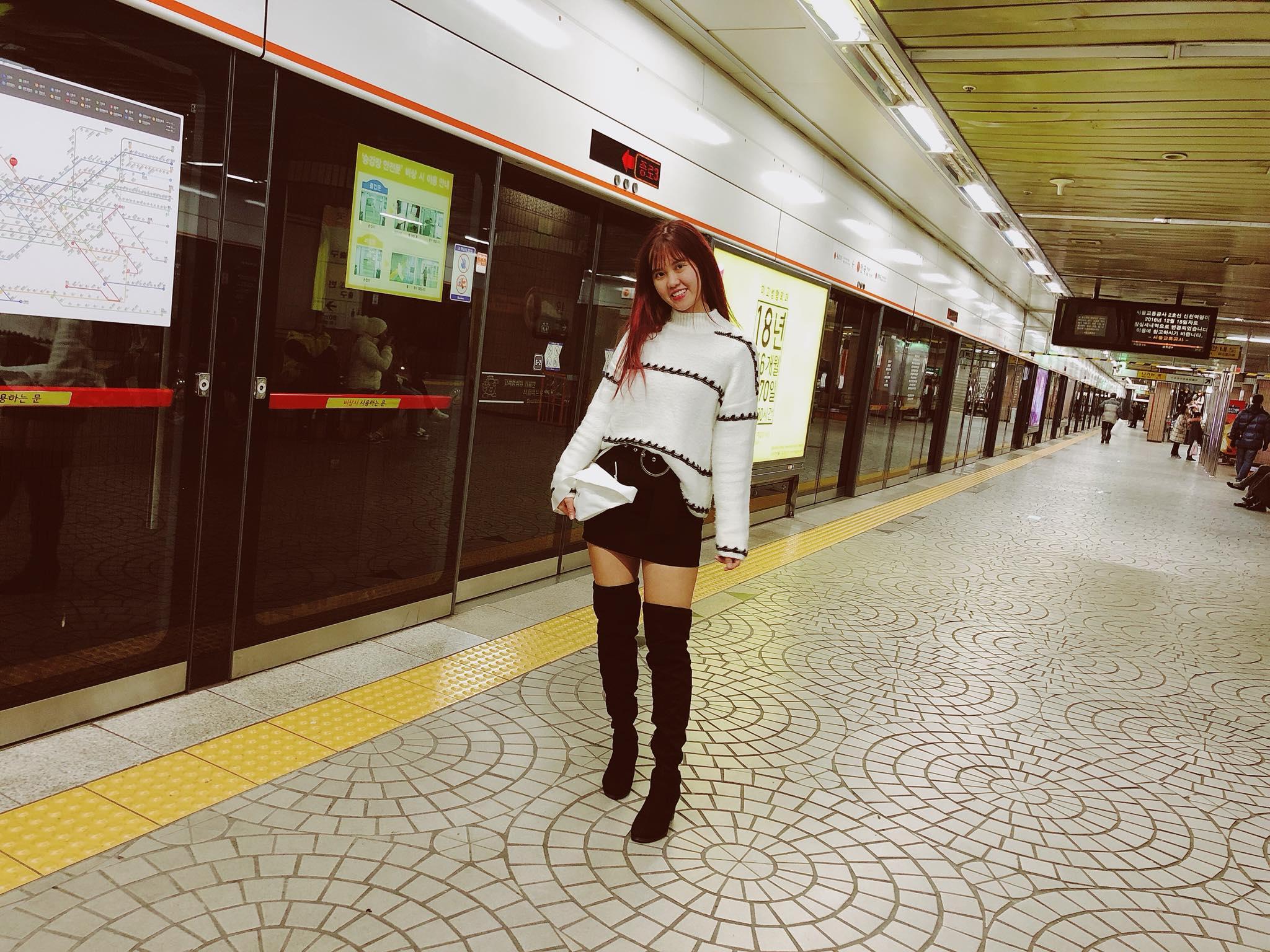 đi tàu điện ngầm ở seoul