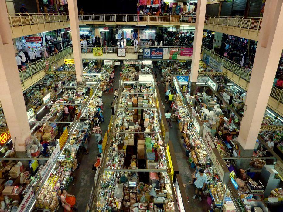 chợ warorot nhìn từ trên cao