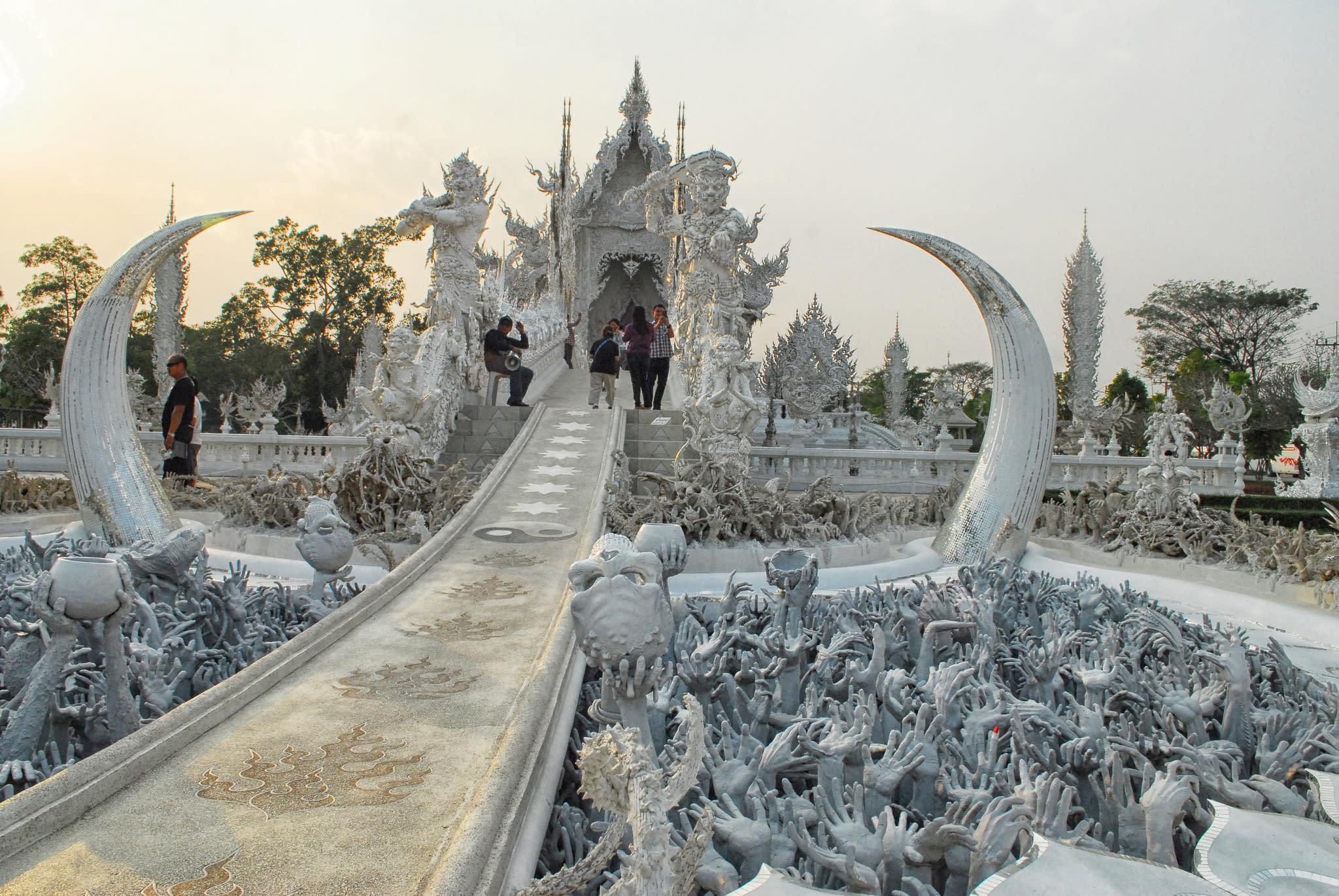 chùa trắng tại chiang mai