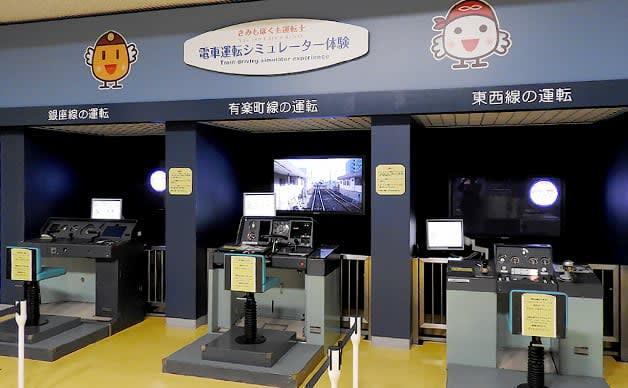 bên trong Bảo tàng Tàu điện ngầm Tokyo