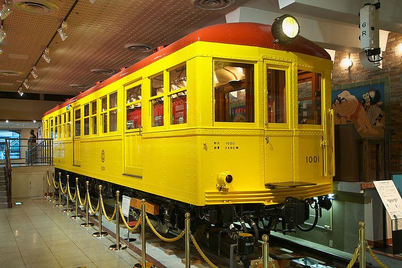 tàu trưng bày tại Bảo tàng Tàu điện ngầm Tokyo