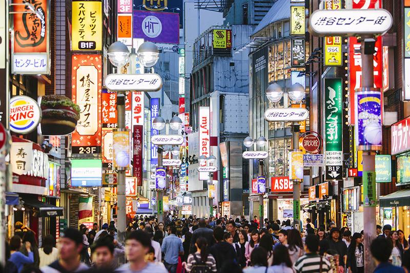 đường phố tokyo về đêm